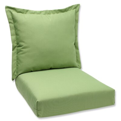 Outdoor Lounge Chair Cushions Fabric: Green