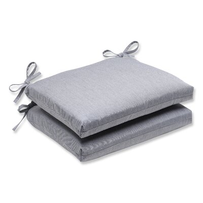 Outdoor Sunbrella Dining Chair Cushion Fabric: Grey