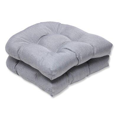 Outdoor Sunbrella Dining Chair Cushion Fabric: Grey