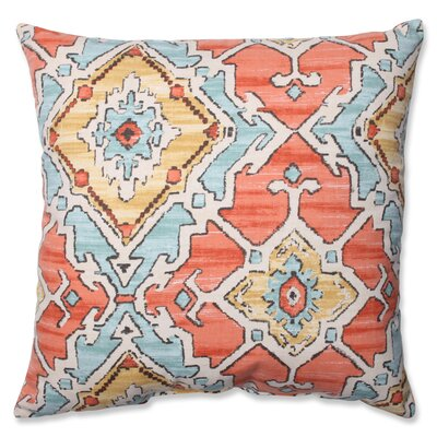 Leisha Tangerine Cotton Throw Pillow Size: 18 H X 18 W X 5 D
