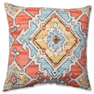 Leisha Tangerine Cotton Throw Pillow Size: 16.5 H X 16.5 W X 5 D