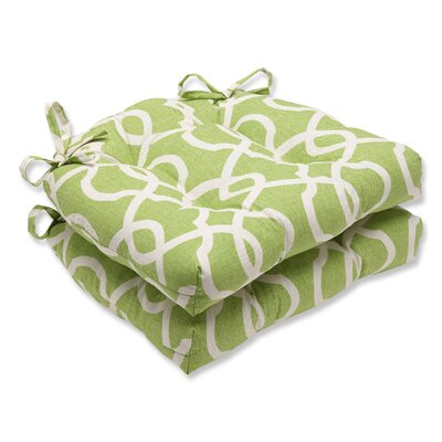 Pillow Perfect Reversible Chair Pad (Set of 2) - Fabric: Lattice Damask Leaf at Sears.com