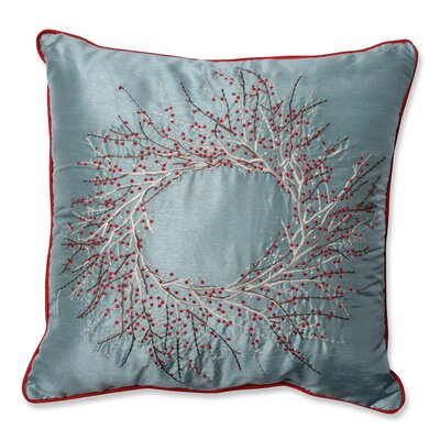 Alaine Christmas Wreath Throw Pillow