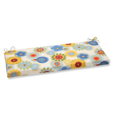 Crosby Outdoor Bench Cushion Fabric: White