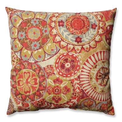 Indira Cardinal Cotton Throw Pillow Size: 16.5 H x 16.5 W x 5 D