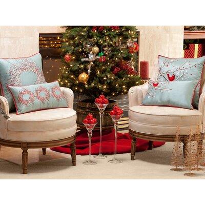 Holiday Cardinal on Snowy Branch Lumbar Pillow