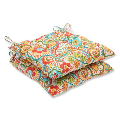 Kilroy Floral Outdoor Dining Chair Cushion Fabric: Carnival