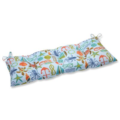 Seapoint Outdoor Loveseat Cushion Fabric: Blue