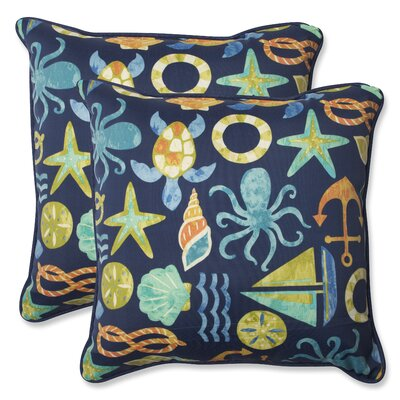 Seapoint Indoor/Outdoor Throw Pillow Fabric: Neptune