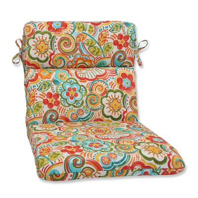 Kilroy Flowery Outdoor Lounge Chair Cushion Fabric: Carnival