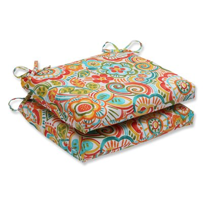 Kilroy Flowery Outdoor Dining Chair Cushion Fabric: Carnival