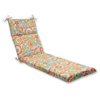 Kilroy Outdoor Chaise Lounge Cushion Fabric: Carnival