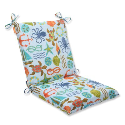 Seapoint Outdoor Lounge Chair Cushion Fabric: Blue