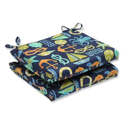 Seapoint Outdoor Dining Chair Cushion Fabric: Neptune