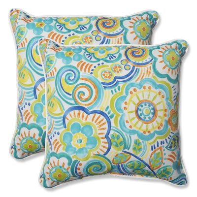 Kilroy Indoor/Outdoor Throw Pillow Fabric: Caribbean