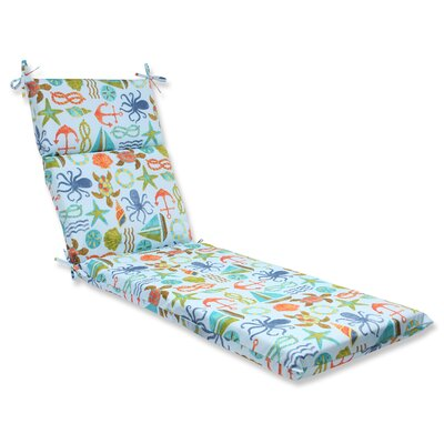 Seapoint Outdoor Chaise Lounge Cushion Fabric: Blue
