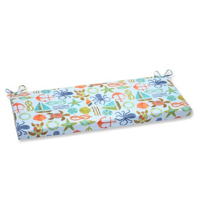 Seapoint Outdoor Bench Cushion Fabric: Blue