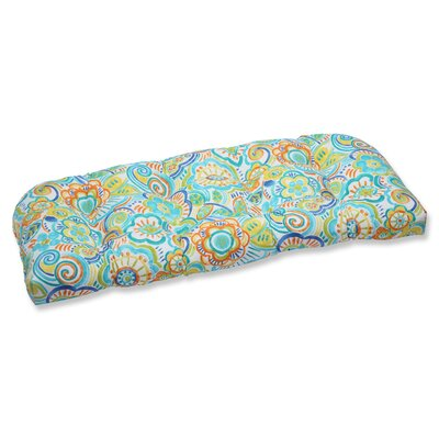 Kilroy Flowery Outdoor Loveseat Cushion Fabric: Caribbean