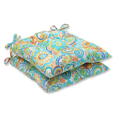Kilroy Floral Outdoor Dining Chair Cushion Fabric: Caribbean