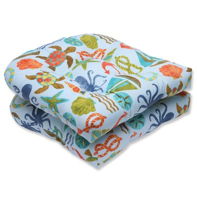 Seapoint Outdoor Dining Chair Cushion Fabric: Blue