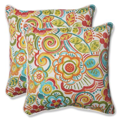 Kilroy Indoor/Outdoor Throw Pillow Fabric: Carnival