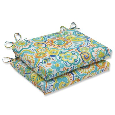 Kilroy Flowery Outdoor Dining Chair Cushion Fabric: Caribbean