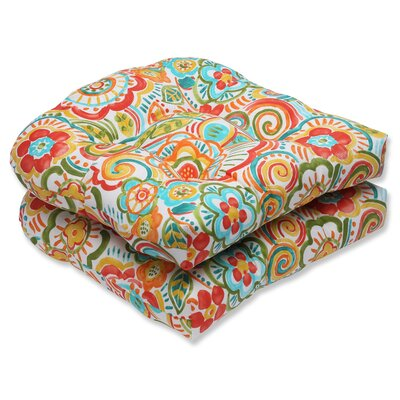 Kilroy Outdoor Dining Chair Cushion Fabric: Carnival