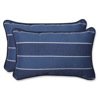 Wickenburg Indoor/Outdoor Lumbar Pillow Fabric: Indigo