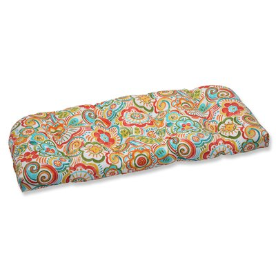 Kilroy Flowery Outdoor Loveseat Cushion Fabric: Carnival
