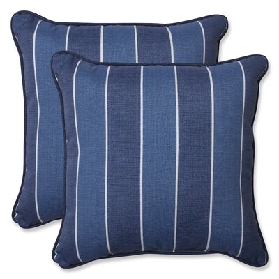 Wickenburg Indoor/Outdoor Throw Pillow Fabric: Indigo