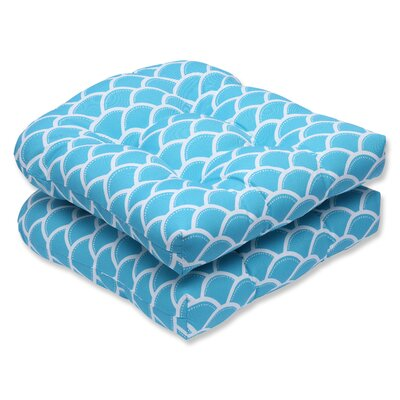 Sunny Outdoor Dining Chair Cushion Fabric: Turquoise