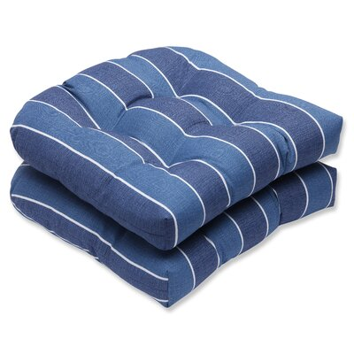 Wickenburg Outdoor Dining Chair Cushion Fabric: Indigo
