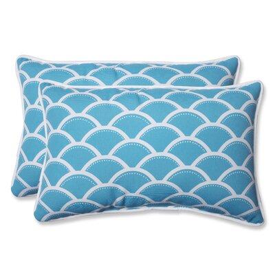 Sunny Indoor/Outdoor Lumbar Pillow Fabric: Turquoise