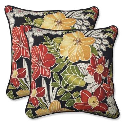 Clemens Noir Indoor/Outdoor Throw Pillow