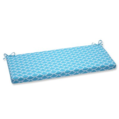 Sunny Outdoor Bench Cushion Fabric: Turquoise