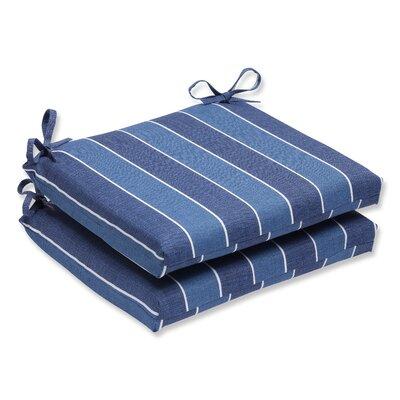 Wickenburg Outdoor Dining Chair Cushion Fabric: Indigo