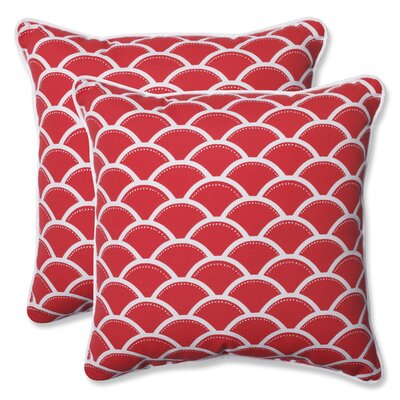 Sunny Indoor/Outdoor Throw Pillow Fabric: Red