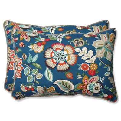 Telfair Peacock Indoor/Outdoor Lumbar Pillow Size: 16.5 H x 24.5 W