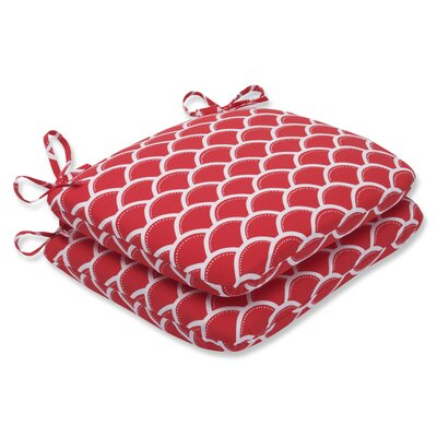 Sunny Outdoor Dining Chair Cushion Fabric: Red