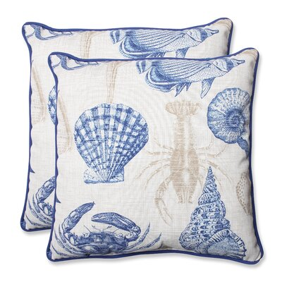 Sealife Indoor/Outdoor Throw Pillow Fabric: Marine