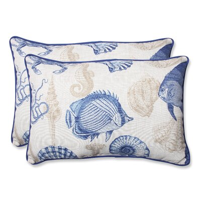 Sealife Indoor/Outdoor Lumbar Pillow Fabric: Marine, Size: 11.5 x 18.5