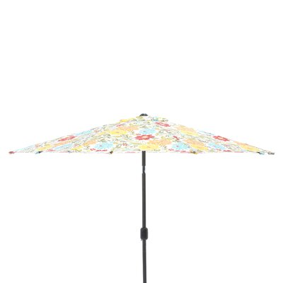 9 Market Umbrella Fabric: Spring Bling Multi