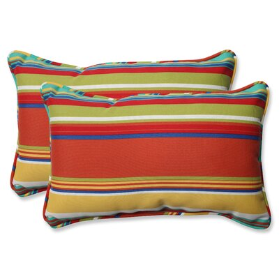 Isenhour Indoor/Outdoor Lumbar Pillow Fabric: Westport Spring, Size: 5 H x 24.5 W x 11.5 D