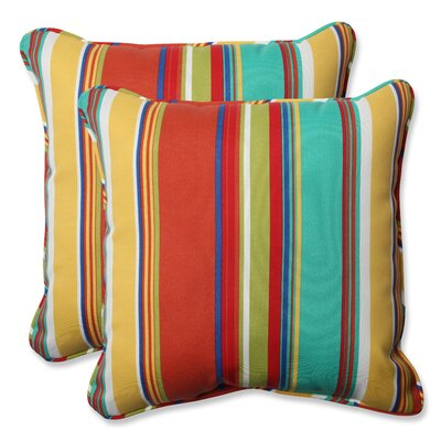 Indoor/Outdoor Throw Pillow Fabric: Westport Spring