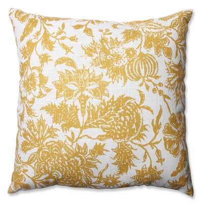 Martiques Cotton Throw Pillow Color: Yellow