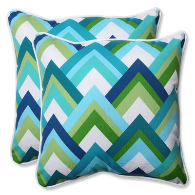 Indoor/Outdoor Throw Pillow Fabric: Resort Peacock