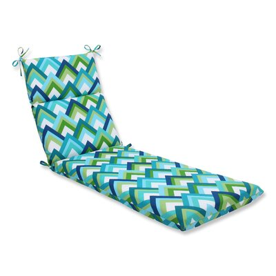 Resort Outdoor Chaise Lounge Cushion Fabric: Resort Peacock