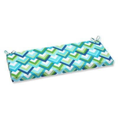 Resort Outdoor Bench Cushion Fabric: Resort Peacock