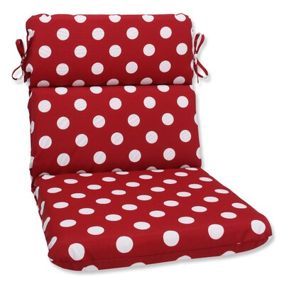 Outdoor Lounge Chair Cushion Fabric: Red/White Polka Dot