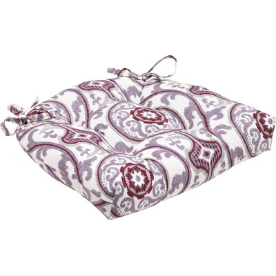 Indoor Dining Chair Cushion Fabric: Suzanni Damask